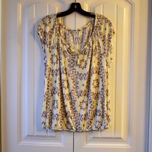 Old Navy Yellow Boho Peasant Top Size L